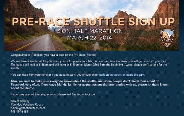 Shuttle Reservation Zion