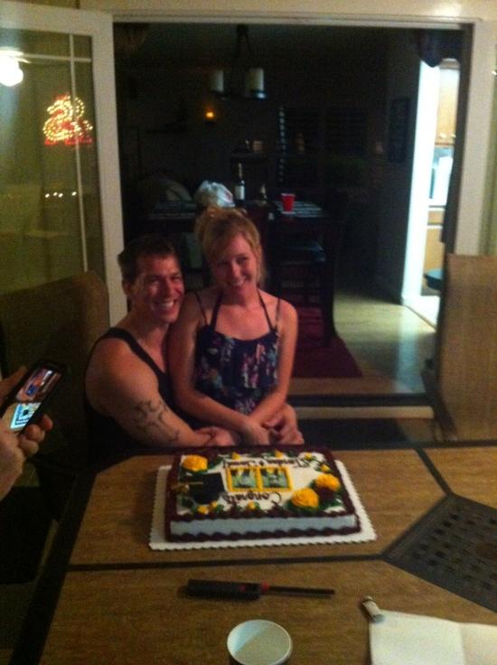 My niece Jordan and her boyfriend Jared.  Congratulations!