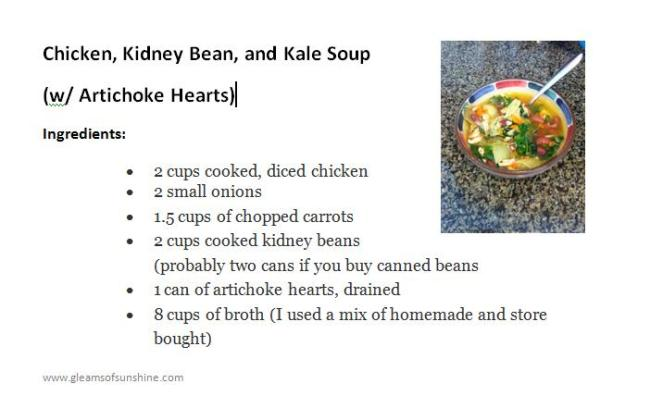Chicken Kidney Kale Soup